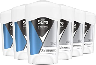 Sure Maximum Protection Clean Scent 96h protection deodorant Anti-perspirant Cream Stick for 3x stronger* sweat protection...