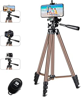 """Phone Tripod, Eocean 50"""" Universal Tripod for Cellphone with Wireless Remote, Extendable Video Tripod Stand, Perfect for T..."""