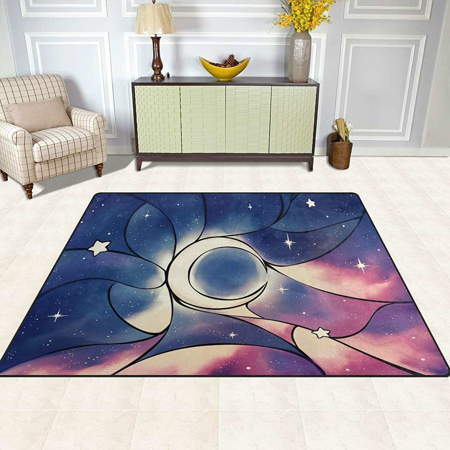 FAJRO Fairytale Moon Rugs for entryway Doormat Area Rug Multipattern Door Mat shoes Scraper Home Dec Anti-Slip Indoor Outdoor