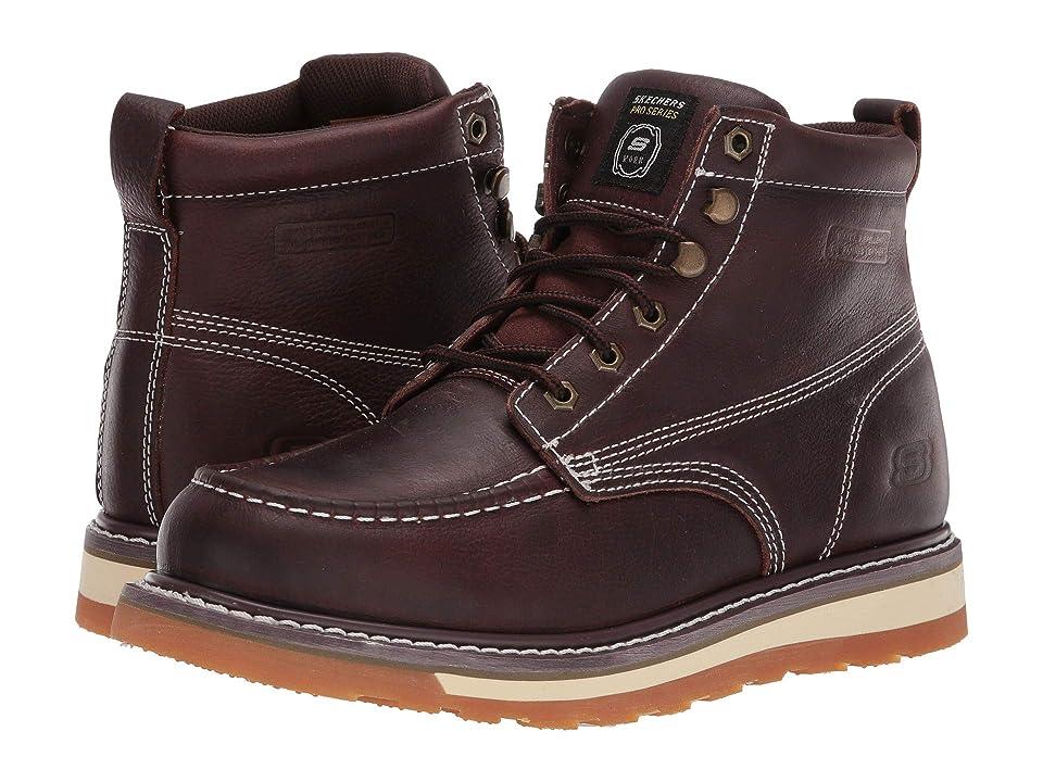 Image of SKECHERS Work Boydton (Red/Brown) Men's Work Boots