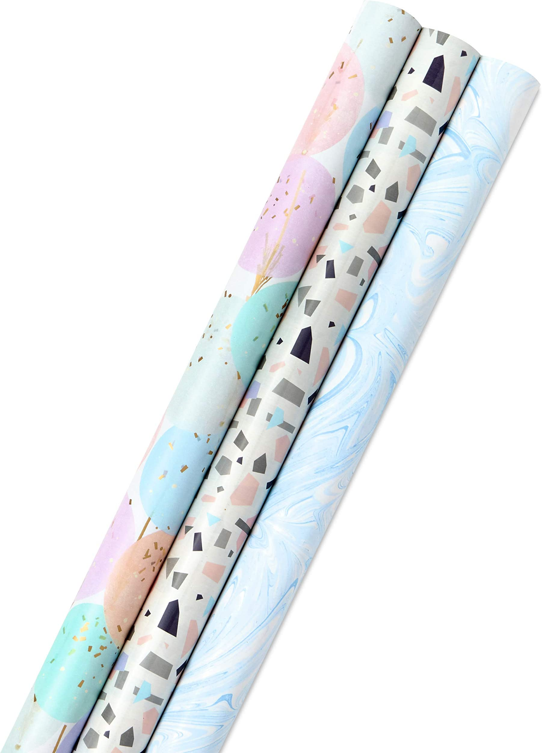 Mushroom Wrapping Paper Roll for Holiday Gifts on blue background Gender Neutral Whimsical Wrapping Paper Roll of 3 sheets