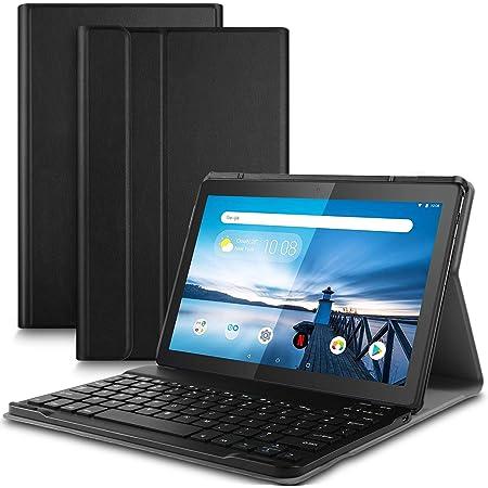 ELTD Teclado Estuche para Lenovo Tab M10,[QWERTY], Protectora Cover Funda con Desmontable Wireless Teclado para Lenovo Tab M10 2018 Model Tableta, ...