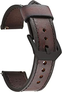 Quick Release Genuine Leather Watch Band 20mm 22mm 24mm Handmade Retro Leather Watch Straps For Men Women