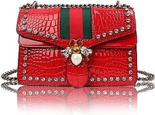 Women Evening Crossbody Bag, Designer Shoulder Bag for Women, Fashion Bee Crossbody Bag Handbags with Chain