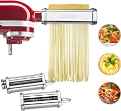 Pasta Maker Attachment for Kitchenaid Stand Mixer,Cofun 3 Piece Pasta Maker Machine with Pasta Roller and Cutter Set for D...