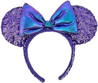 Disney Parks Purple Potion Sequin Minnie Ears Headband