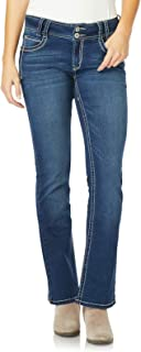 WallFlower Women's Juniors InstaStretch Luscious Curvy Bootcut Jeans