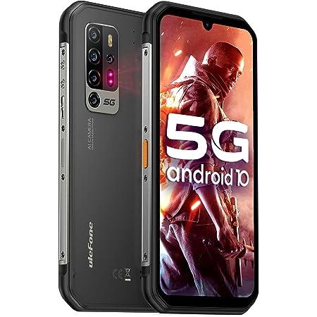 5G Móvil Resistente, Ulefone Armor 11 8GB + 256GB Con Visión Nocturna 20MP, 6.1'' HD+ Smartphone Antigolpes IP68, Android 10 Octa-core, 5200mAh, Cámara Penta AI de 48MP, Carga Inalámbrica, Tipo C, OTG