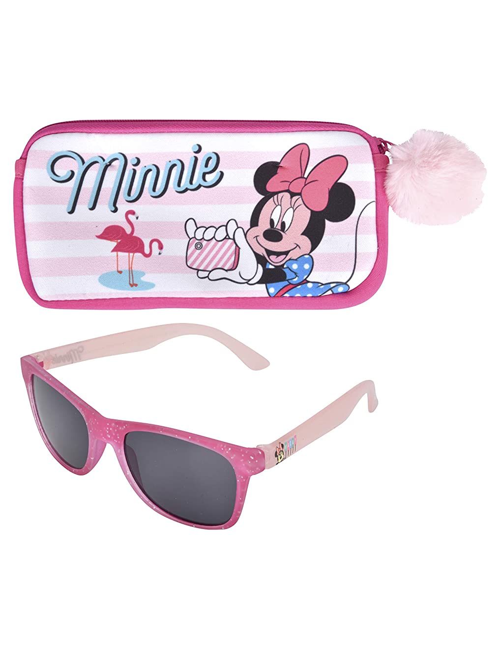 KIDS SUNGLASSES – GIRLS 100% UV SUNGLASSES W BONUS FUZZY HANDLE CASE, FROZEN, MINNIE, MOANA, TROLLS