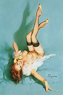 The Right Number Artist Gil Elvgren Vintage Classic Pin Up Girl Poster Print - 24x36