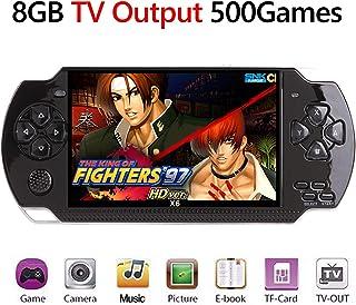MERIT OCEAN X6 PSP 128Bits Consola de Juegos Portátil, Consola de Mano del Juego Retro 4.3 Pulgadas 8GB Consolas de Videojuegos Portátiles con Cámara Nueva Versión Incorporado Juegos 650+ (Negro)