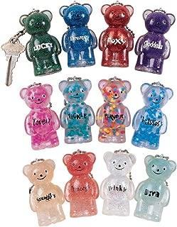 glitter teddy bear keychain