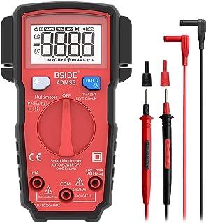 Bside ADMS6 Pocket Digital Multimeter Smart 6000 Counts Fully Auto-Ranging DMM Hz V-Alert Live Wire Check Intelligent Elec...