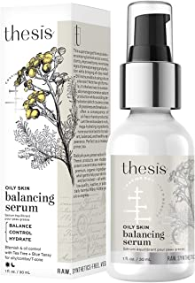 Thesis Organic Facial Balancing Serum - for Oily, Combination Skin, T-zone - Antioxidant Moisturizer with Tea Tree and Blue Tansy