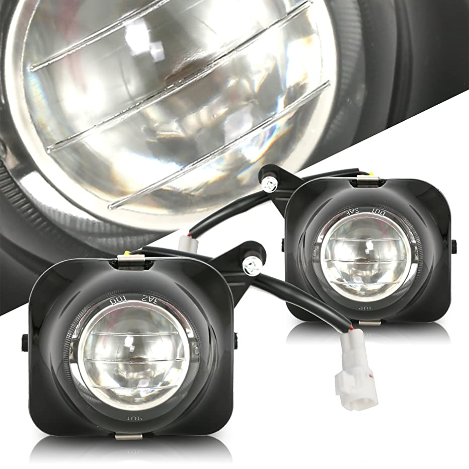 Scitoo PACKAGED Clear Lens H3 12V 55W Fog Light Assembly Replacement fit 2000-2005 TOYOTA Celica Pair Set