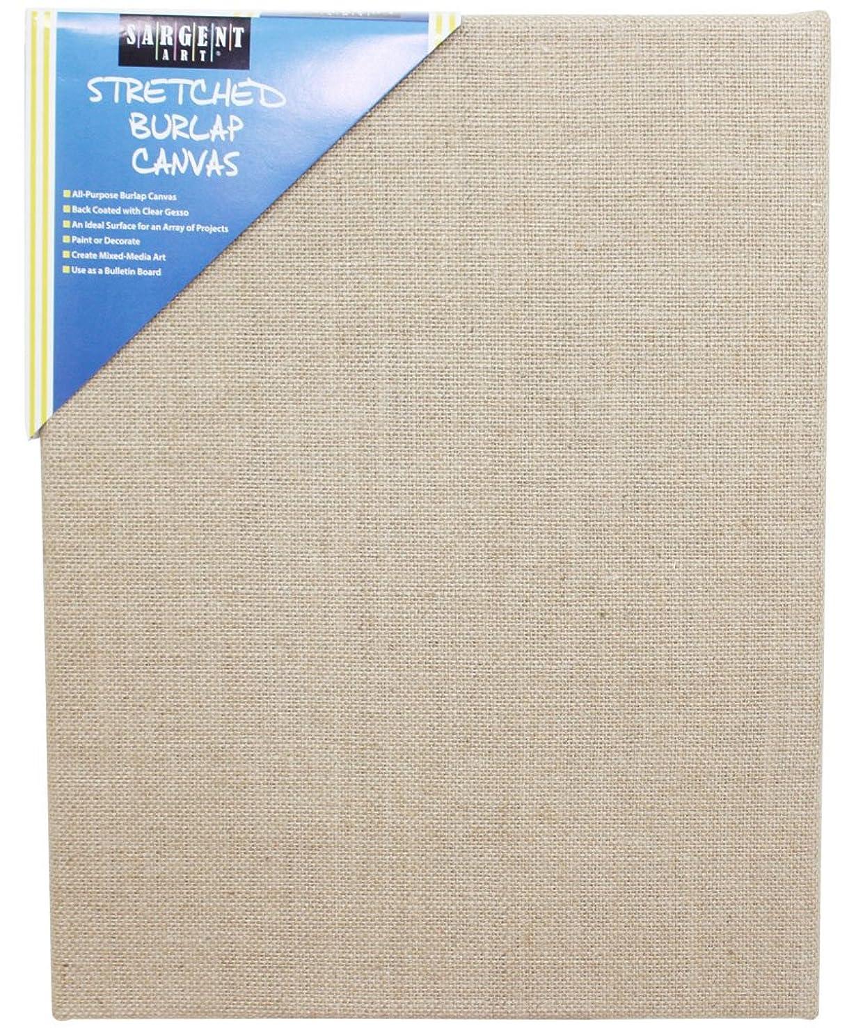 Sargent Art 90-2027 Stretched Burlap Canvas, 11 x 14