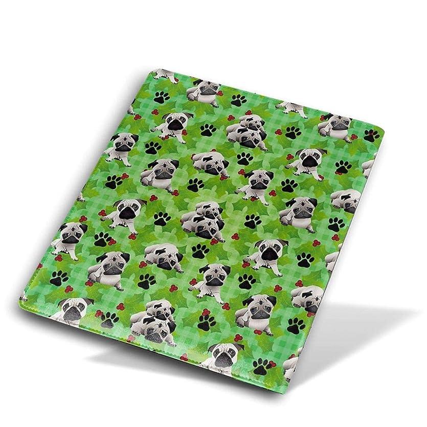 アレキサンダーグラハムベル注入絶滅ユニセックス ブックカバー 文庫カバー かわいい漫画のプリント 教科書 学校用 Size 28*51 Cm Pugs, Paws And Mistletoe - Green