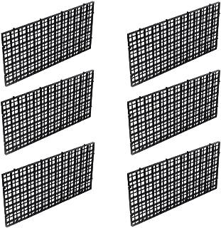 OBANGONG 6 Pcs Grid Isolate Board Divider Fish Tank Bottom Black Filter Tray Aquarium Crate