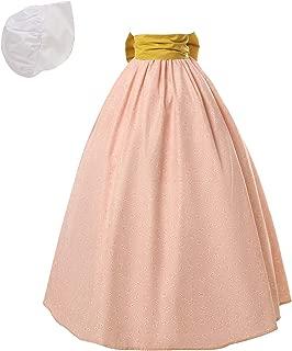 NSPSTT Women Pioneer Colonial Skirt Girls Peasant Prairie Skirt Civil War Trek Floral Costume