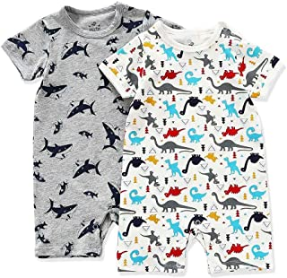 YFYBaby Baby Boys Girls Toddlers Sleeveless Dolphin Print Romper Jumpsuit Animal Outfit