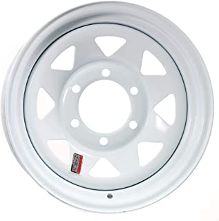 eCustomrim Trailer Wheel Rim 16X6 6-5.5 White Spoke 3760 Lb. 4.25CB
