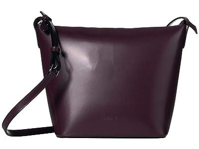 Lodis Accessories Audrey RFID Camilla Bucket Crossbody (Deep Plum/Ivy) Cross Body Handbags