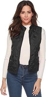 EVERICH Women's Spring Autumn Winter Vest Lightweight Stand Collar Quilted Zipper Vest with Pockets