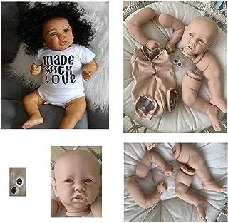 ALEOHALTER Kit Bambola Reborn da 17 Pollici Stampo per Bambole Non Verniciato Full Body Bambole Appena Nate Kit Fai da Te Regalo per Ragazze Bambini