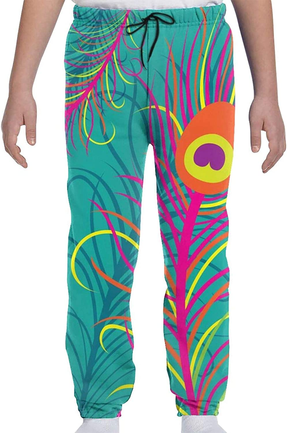 Oomato Feather Special price for a limited time Special sale item Youth Sweatpants 3D Print Teens Trousers Gi Boys