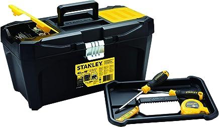 """Stanley STST80345-40, Caixa 16"""" Plástica Empilhável, Amarelo/Preto"""