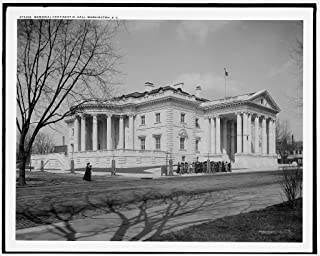 Vintography 8 x 10 Ready to Frame Pro Photo of Memorial Continental Hall Washington D C 1915 Detriot Publishing 86a