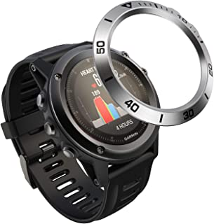 YASPARK Bezel Styling para Fenix 3, Cover Bisel Anillo Cubrir Anti-rasguños Colisión Acero Inoxidable Proteccion Anillo de Bisel para Fenix 3 HR/Fenix 3 Watch