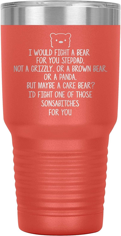 Stepdad Tumbler Travel 返品交換不可 Mug Coffee Cup Best 驚きの値段で Birthday Funny Id For