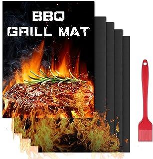 KDWOA Tapis de Cuisson pour Barbecue,Feuilles de BBQ Réutilisable Extérieur,Cuisson Mats Plancha pour Barbecue Gaz ,Postul...