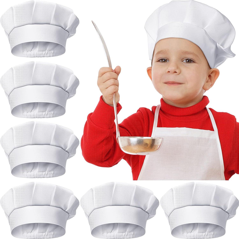 6 Pieces Kids Chef Hat mart Children Elastic Toddler Ha Atlanta Mall