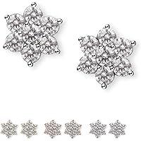 Deals on SWEETV Cubic Zirconia Stud Earrings