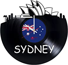 Sydney Australia Design Vinyl Record Wall Clock - Get unique home or office wall decor - Gift ideas for girls and women Cities Skylines Unique Modern Art