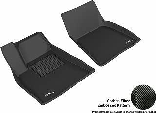 3D MAXpider Front Row Custom Fit All-Weather Floor Mat for Select Tesla Model S Models - Kagu Rubber (Black)