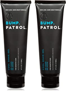 Bump Patrol Cool Shave Gel - Sensitive Clear Shaving Gel With Menthol Prevents Razor Burn, Bumps, Ingrown Hair - 4 Ounces 2 Pack