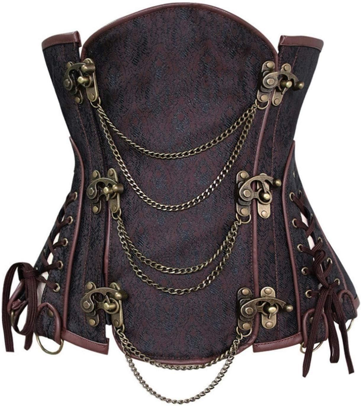 YCRCTC favorite Women Burlesque Steampunk Translated Gothic Spiral Underbust Corset