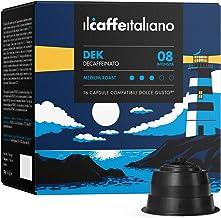FRHOME - 96 capsules de café compatible Nescafé Dolce Gusto - Cafè Mélange Dek intensité 7 - Il Caffè Italiano