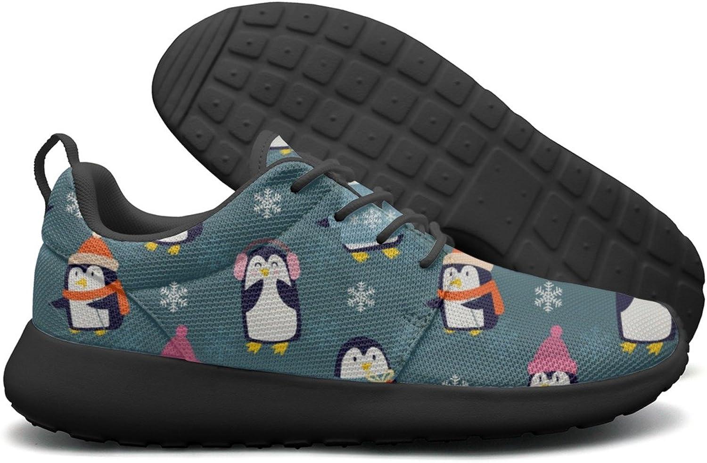ERSER Christmas Penguins Playing Bright Running shoes Women