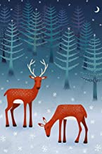Notes: A Blank Lined Journal with Deer in Snow Cover Art