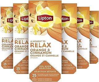 Lipton Sinaasappel, Kaneel & Spice Thee, Kerst sfeer - 6 x 25 zakjes