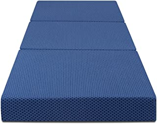 Olee Sleep Folding Bed Mattress, Standard, Blue