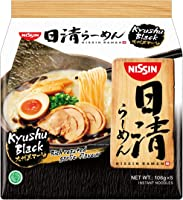 Nissin Ramen Kyushu Black Instant Noodle 5 Packets, 530 g, Garlic