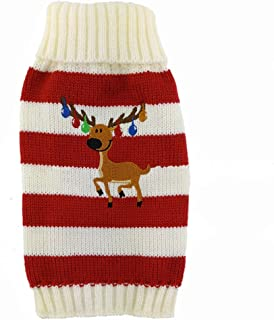 Love Pets Love PetsLove Christmas Rangifer Tarandus Dog Clothes Cat Sweaters Pet Jerseys Clothing Gear Coats Apparel