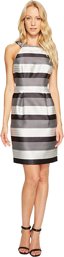 Striped Halter Sateen Dress