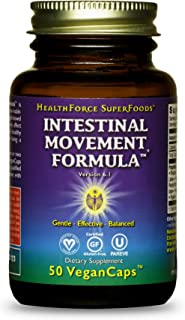 HealthForce SuperFoods Intestinal Movement Formula - 50 VeganCaps - All-Natural Herbal Laxative - Supports Bowel Regularit...