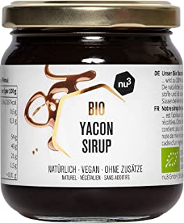 nu3 Sirop de Yacon biologique - 250g en pot - douceur agréable de la pomme du terroir péruvien - sirop de Yacon qualité bi...